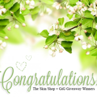 Congratulations! The Skin Shop + GiG Giveaway Winners!